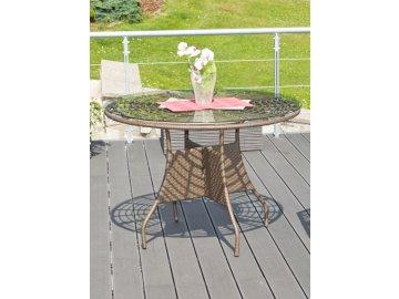 Ratanový stůl G21 Royal Big Merbau