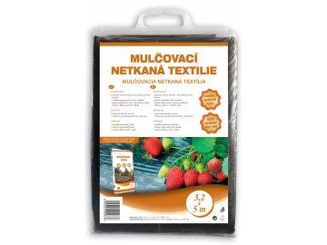 Mulčovací netkaná textilie černá 3,2 x 5 m