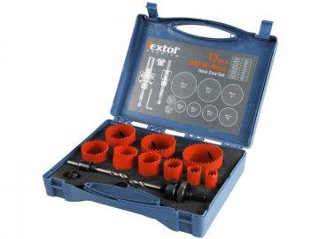 vrtáky korunkové, univerzální, 9 průměrů, ∅19-64mm, HSS/Bi-metal