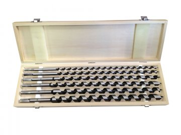 vrtáky hadovité do dřeva, sada 6ks, ∅10-20x460mm
