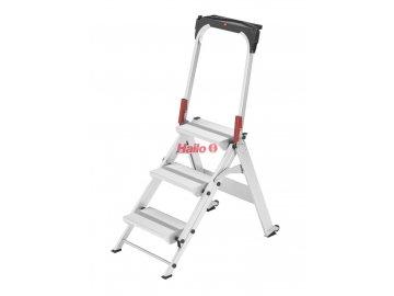 Hailo ST100 TopLine 3-stupňové - profesionální průmyslové hliníkové bezpečnostní schůdky