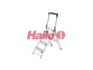 Hailo ST100 TopLine 4-stupňové - profesionální průmyslové hliníkové bezpečnostní schůdky
