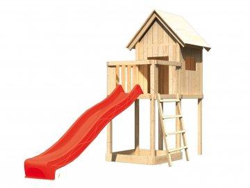 dětský domek KARIBU FRIEDA 91177 + červená skluzavka