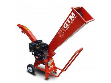 GTM GTS 600 - drtič dřeva s benzinovým motorem