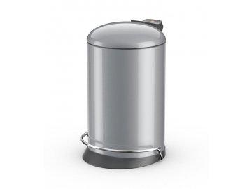 Hailo ProfiLine Solid 16 stříbrný lak - odpadkový koš