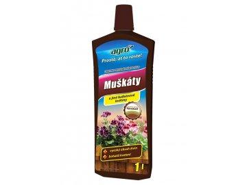 AGRO Organo-minerální kapalné hnojivo pro muškáty 1 l