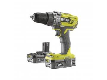 Ryobi R18PD3-220S - aku 18 V vrtačka + 2x baterie 2 Ah + nabíječka ONE+