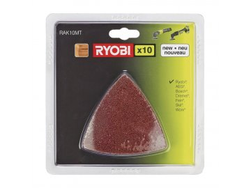 Ryobi RAK 10 MT - sada brusných papírů (10 ks) k RMT 1801 M, RMT 1201 M