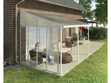 Palram Patio Cover Side wall 3m White Main 1 1