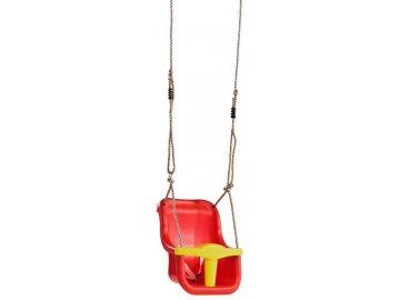 Marimex Play Závěsná houpačka Baby Luxe - červená