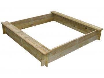 Dřevěné pískoviště čtyřhranné se dvěma sedátky