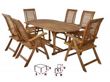 HECHT CAMBERET SET - set zahradního nábytku