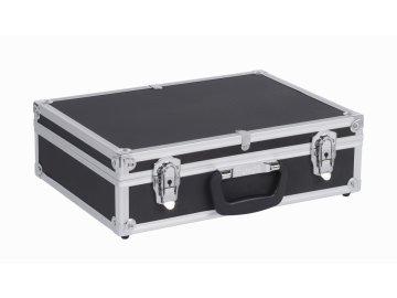 PRM10101B - Hliníkový kufr se zámky 425x305x125 mm černý