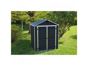 Palram Skylight 6x5 antracit - zahradní domek