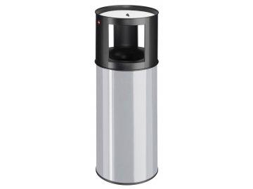 Hailo ProfiLine care 40 šedostříbrný - bezpečnostní samozhášecí odpadkový koš