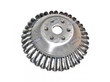 Ocelová kartáčová hlava ke křovinořezu 175x25,4 mm