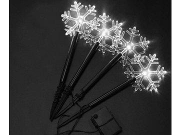 Solární vánoční osvětlení-Sněhová vločka,bílá