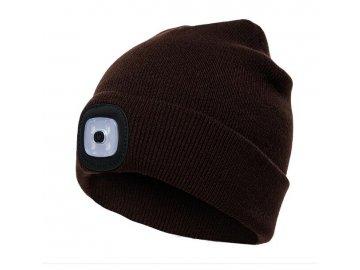 Čepice s LED světlem- černá