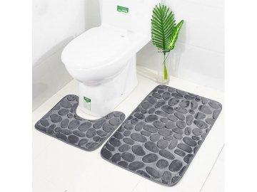 Koupelnová předložka 2 ks – šedá