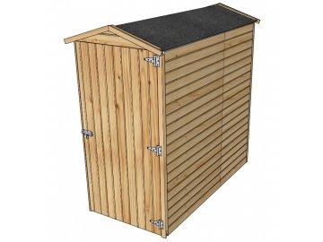 dřevěný domek SOLID ANITA 2 - 90 x 183 cm (S858-1)