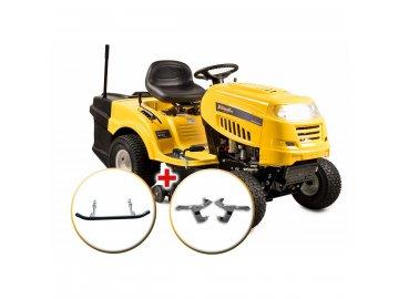 Riwall PRO RLT 92 H POWER KIT - travní traktor se zadním výhozem a hydrostatickou převodovkou + nárazník