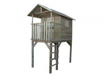 Domeček dětský dřevěný s žebříkem Vyhlídka