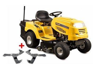 Riwall PRO RLT 92 T POWER KIT - travní traktor se zadním výhozem a 6-ti stupňovou převodovkou Transmatic + nárazník