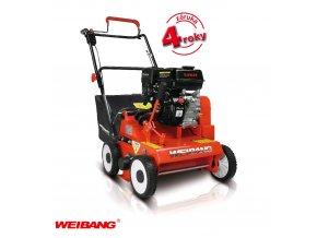 Weibang WB 384 RC - Loncin - benzínový travní provzdušňovač s košem