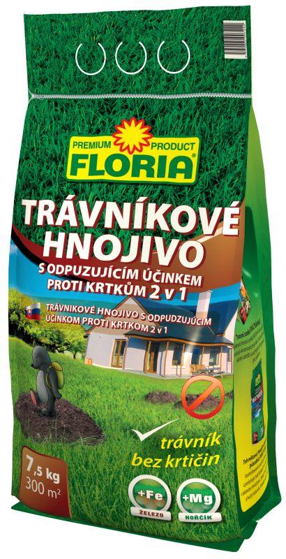 FLORIA Trávníkové hnojivo s odpuzujícími účinky na krtky 7,5 kg