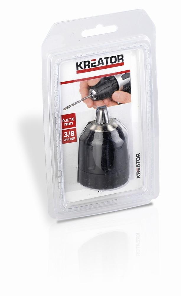 KREATOR KRT014002 - Rychloupínací sklíčidlo 0.8-10 mm 3/8-24U