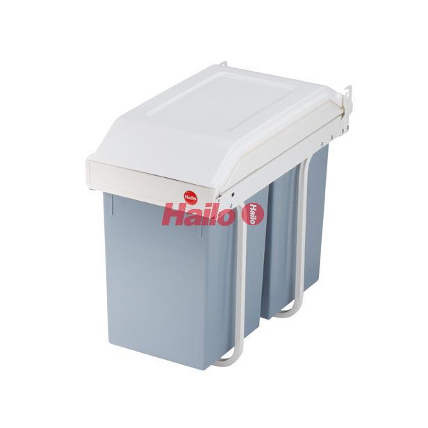 HAILO Multi-Box 2x15 plast-krémově bílá - vestavný třídič odpadu