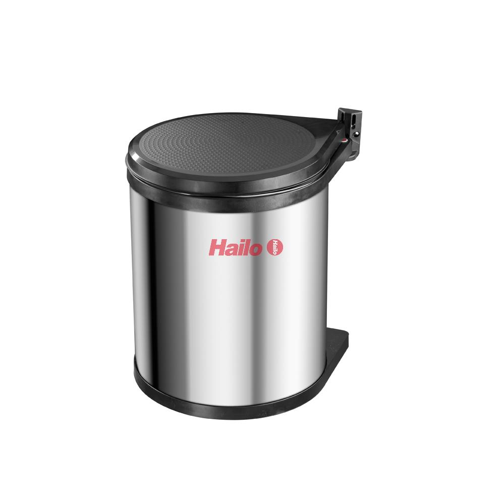 HAILO Compact-Box 15 nerez/černý - vestavný odpadkový koš