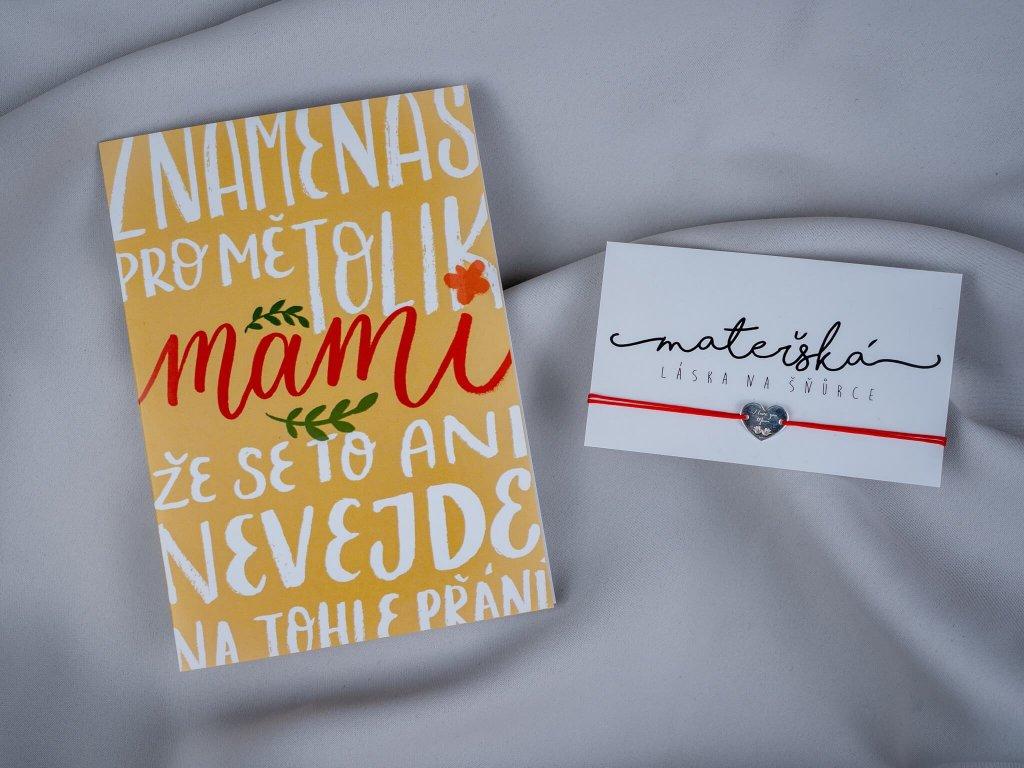 """Sada """"Znamenáš pro mě, mami"""" & srdce MOM"""