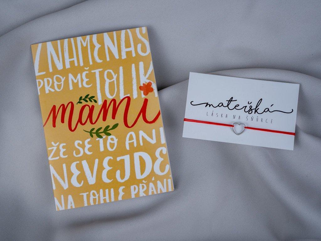 """Sada """"Znamenáš pro mě, mami"""" & srdce"""