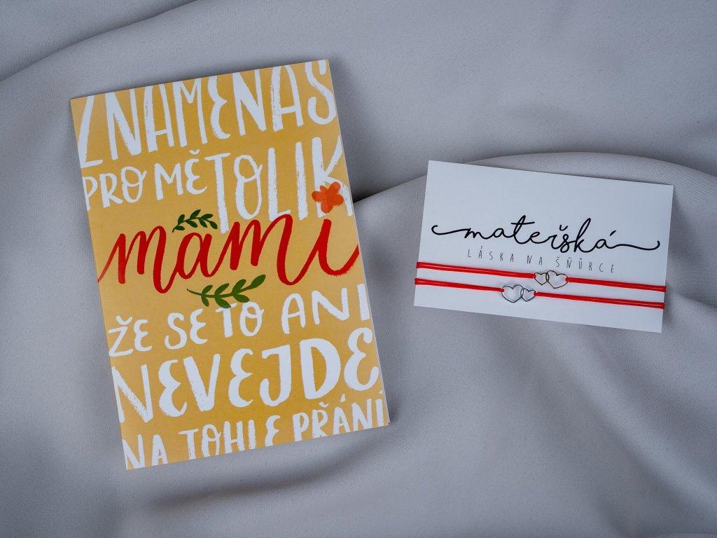 """Sada """"Znamenáš pro mě, mami"""" & spojená srdce pro dva"""