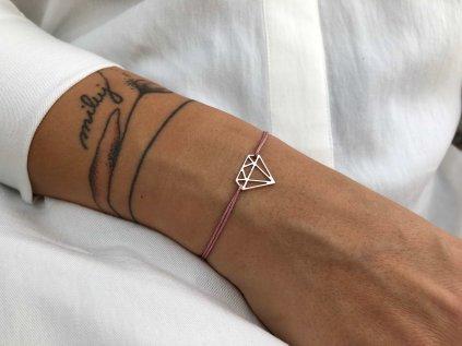 Provázkový #22 diamant Ag