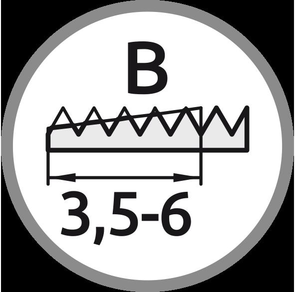 Řezný kužel B: Délka 3,5-6 stoupání