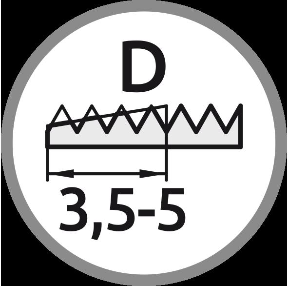 řezný kužel D: Délka 3,5-5 stoupání