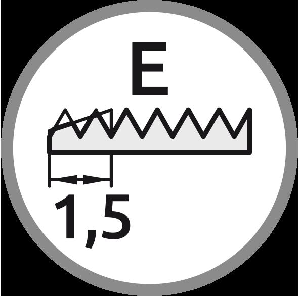 Řezný kužel E: Délka 1,5 stoupání