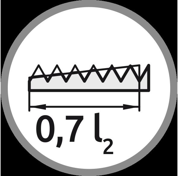 řezný kužel: Délka 0,7 l2