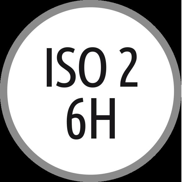 Lícování závitu: ISO 2 - 6H