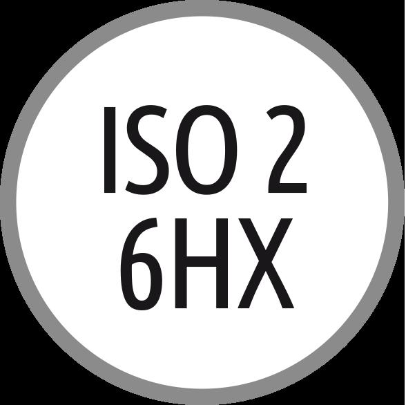 Lícování závitů: ISO 2 - 6HX