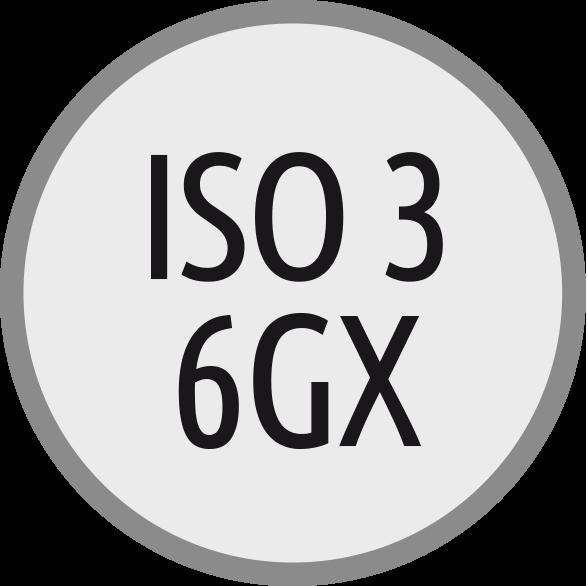 Lícování závitů: ISO 3 - 6GX