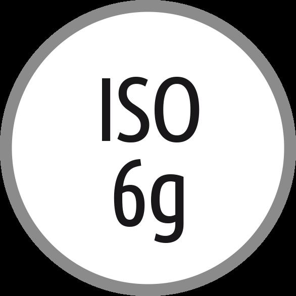 Lícování závitů: ISO - 6g