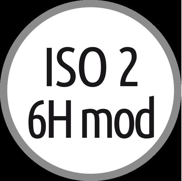 Lícování závitů: ISO 2 - 6H mod