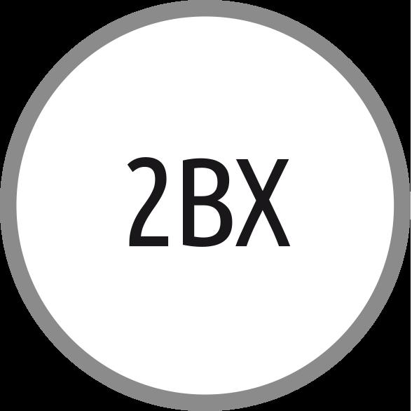 Lícování závitů: 2BX