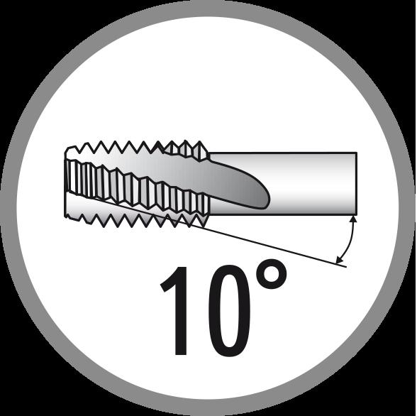 Úhel šroubové drážky: 10°