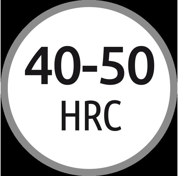 Typ H: Závitník pro oceli s tvrdostí 40-50 HRC