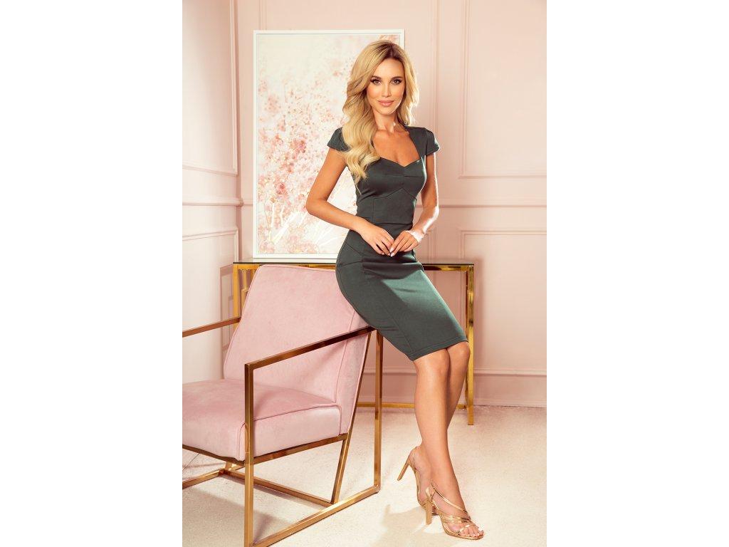 Zelené elegantní šaty