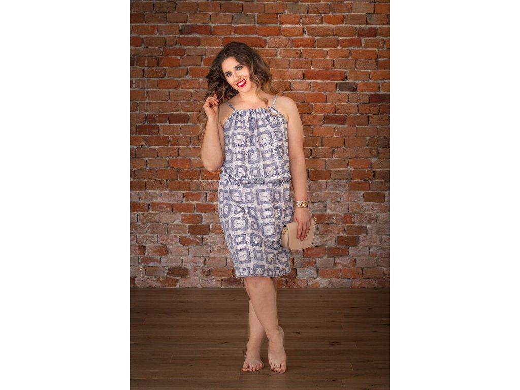 Bílo-modré šaty